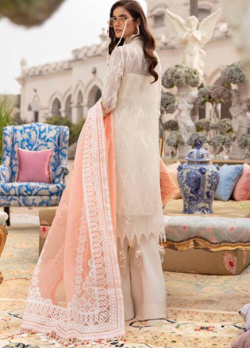 Sana Safinaz Embroidered Organza Unstitched 3 Piece Suit 01-A – Summer Collection