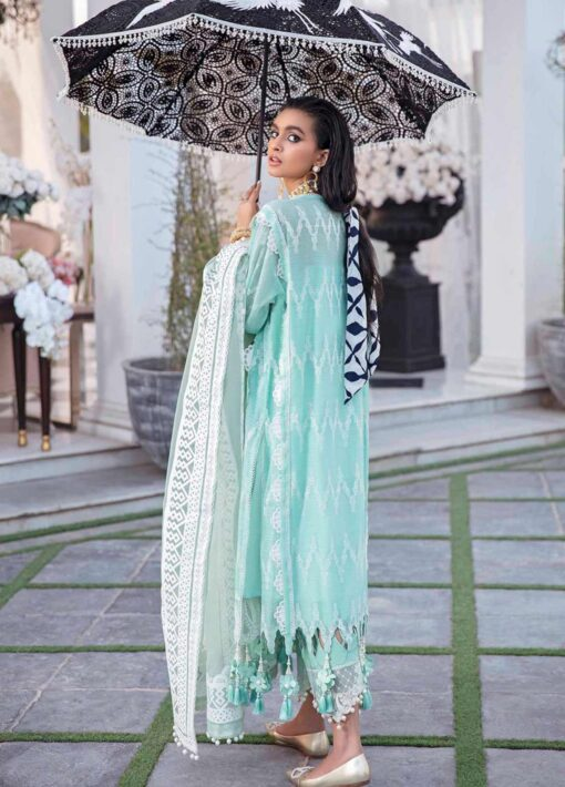 Sana Safinaz Embroidered Organza Unstitched 3 Piece Suit 01-B – Summer Collection