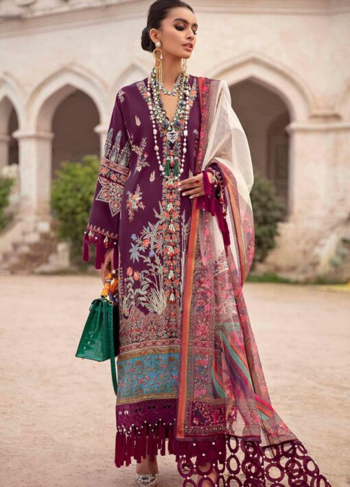 Sana Safinaz Embroidered Lawn Unstitched 3 Piece Suit 03-A – Summer Collection
