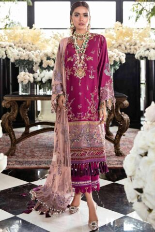 Sana Safinaz Embroidered Dobby Unstitched 3 Piece Suit 04-A – Summer Collection