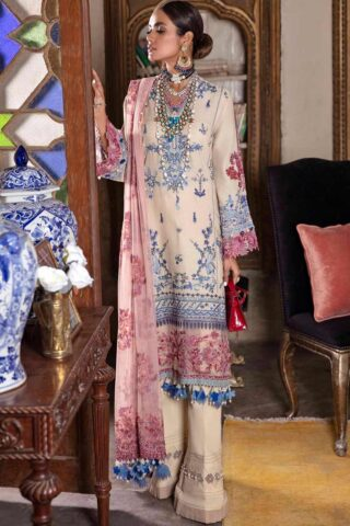 Sana Safinaz Embroidered Dobby Unstitched 3 Piece Suit 04-B – Summer Collection