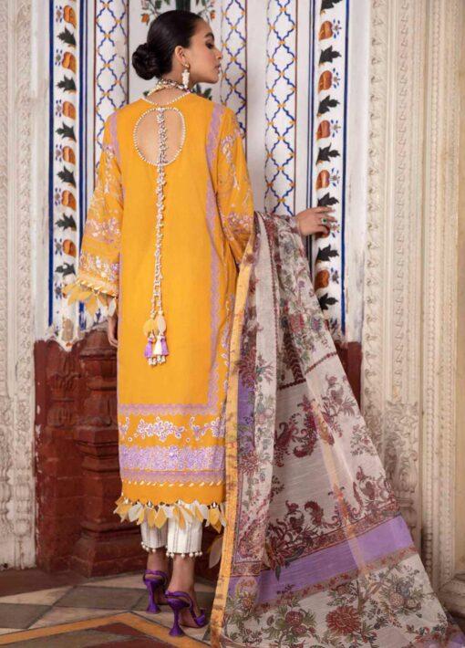 Sana Safinaz Embroidered Slub Lawn Unstitched 3 Piece Suit 05-B – Summer Collection