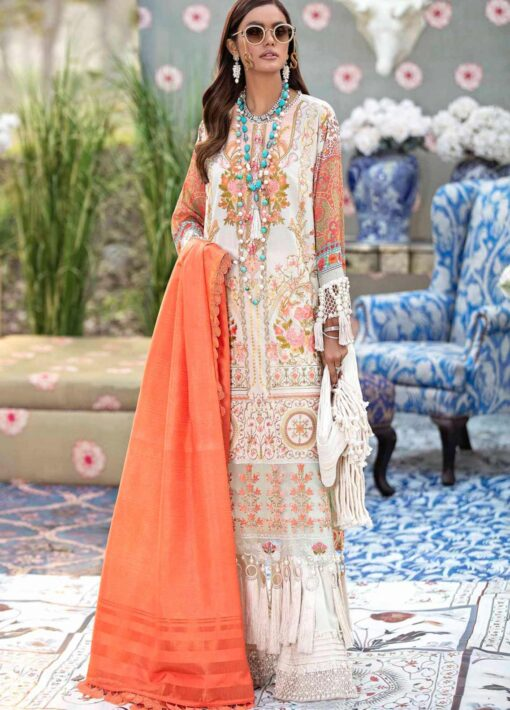 Sana Safinaz Embroidered Lawn Unstitched 3 Piece Suit 06-B – Summer Collection