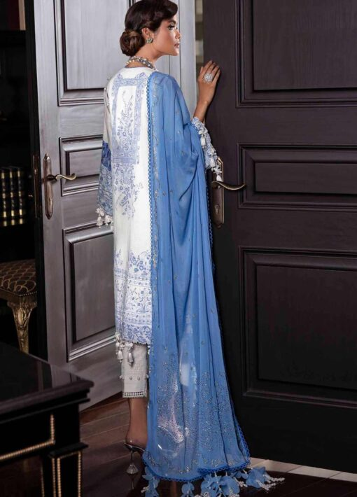 Sana Safinaz Embroidered Slub Lawn Unstitched 3 Piece Suit 07-A – Summer Collection
