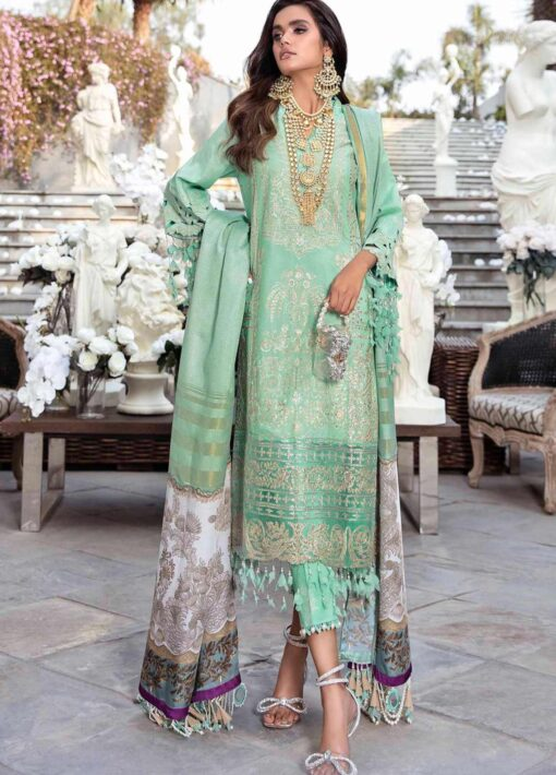 Sana Safinaz Embroidered Lawn Unstitched 3 Piece Suit 08-B – Summer Collection