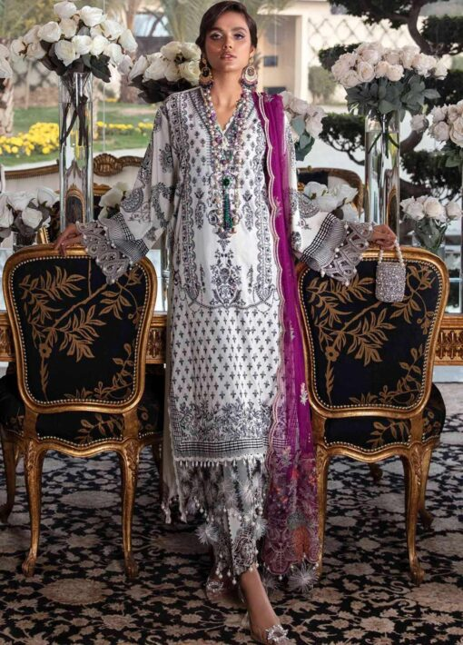 Sana Safinaz Embroidered Dobby Unstitched 3 Piece Suit 09-B – Summer Collection