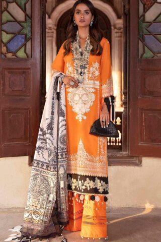 Sana Safinaz Embroidered Slub Lawn Unstitched 3 Piece Suit 10-B – Summer Collection