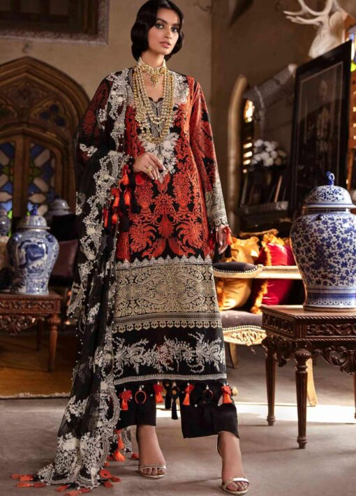 Sana Safinaz Embroidered Lawn Unstitched 3 Piece Suit 11-A – Summer Collection