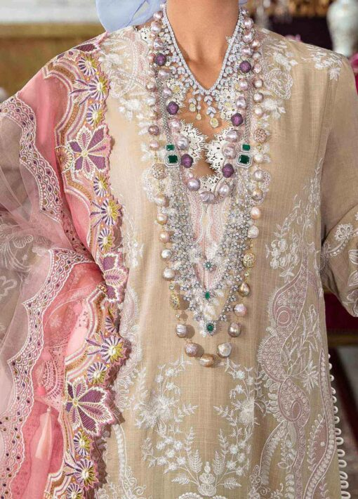 Sana Safinaz Embroidered Slub Lawn Unstitched 3 Piece Suit 12-A – Summer Collection