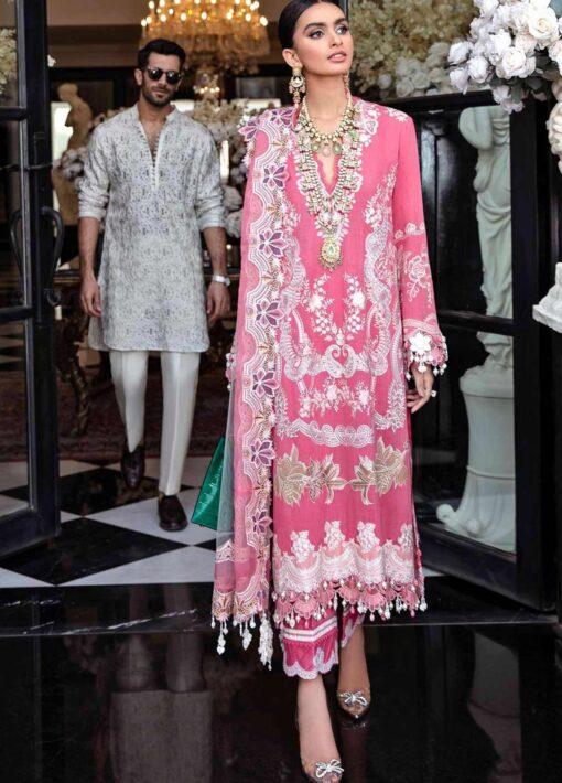 Sana Safinaz Embroidered Slub Lawn Unstitched 3 Piece Suit 12-B – Summer Collection