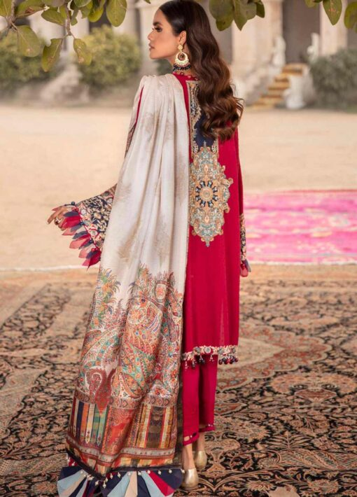 Sana Safinaz Embroidered Lawn Unstitched 3 Piece Suit 13-A – Summer Collection