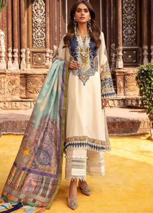 Sana Safinaz Embroidered Lawn Unstitched 3 Piece Suit 13-B – Summer Collection