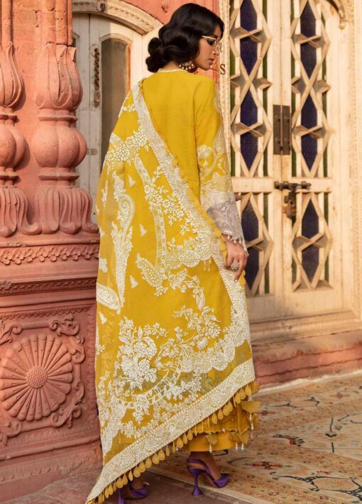 Sana Safinaz Embroidered Dobby Unstitched 3 Piece Suit 15-A – Summer Collection