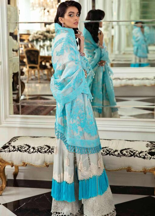Sana Safinaz Embroidered Dobby Unstitched 3 Piece Suit 15-B – Summer Collection