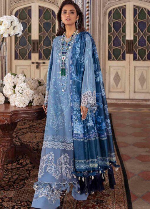 Sana Safinaz Embroidered Slub Lawn Unstitched 3 Piece Suit 16-A – Summer Collection