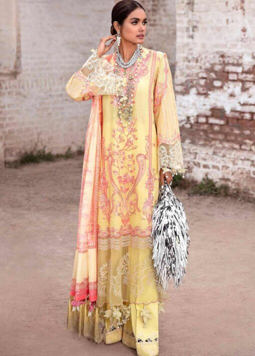 Sana Safinaz Embroidered Slub Lawn Unstitched 3 Piece Suit 16-B – Summer Collection