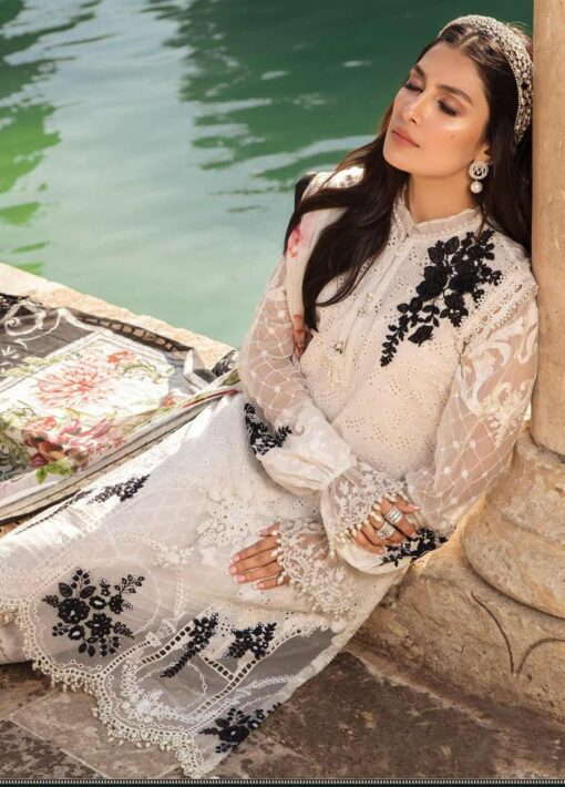 Maria B Embroidered Lawn Unstitched 3 Piece Suit 01 A – Summer Collection