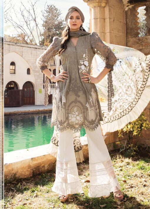 Maria B Embroidered Lawn Unstitched 3 Piece Suit 01 B – Summer Collection