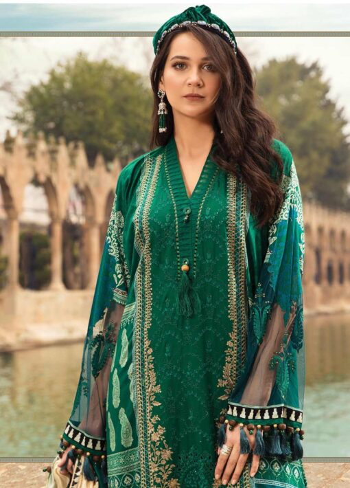 Maria B Embroidered Lawn Unstitched 3 Piece Suit 02 B – Summer Collection