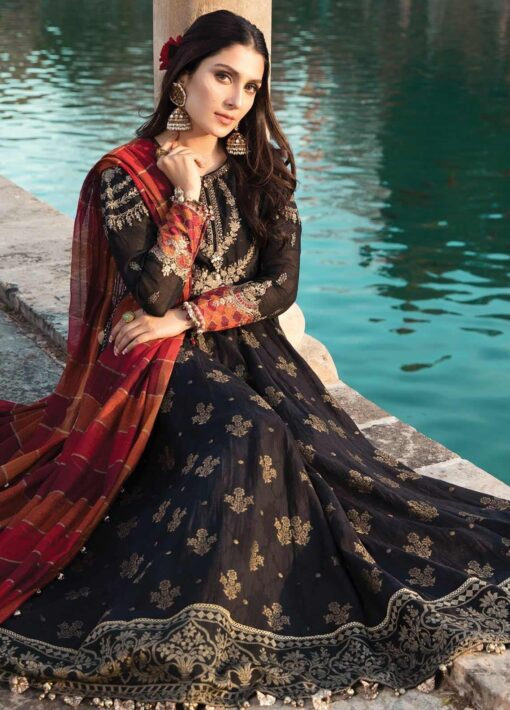 Maria B Embroidered Jacquard Unstitched 3 Piece Suit 04 B – Summer Collection