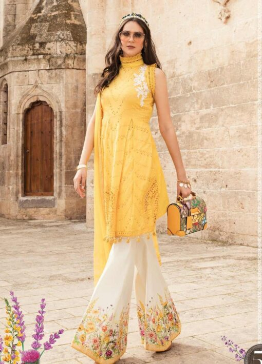 Maria B Embroidered Lawn Unstitched 3 Piece Suit 05 A – Summer Collection