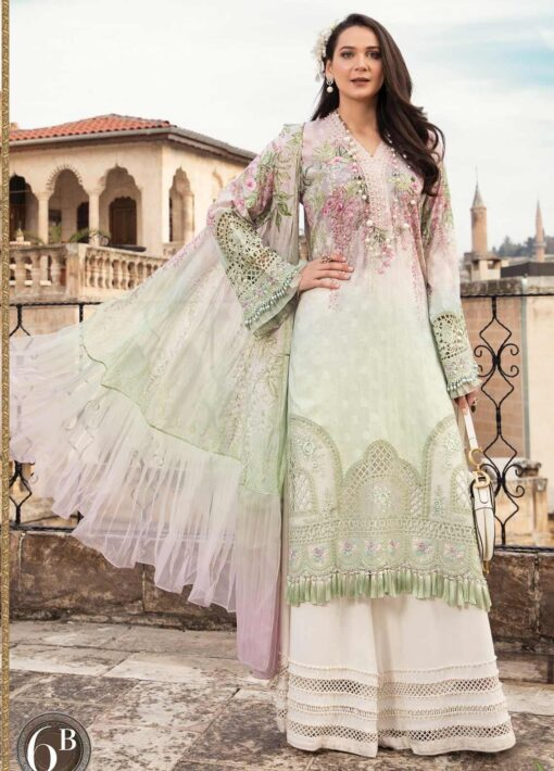 Maria B Embroidered Lawn Unstitched 3 Piece Suit 06 B – Summer Collection