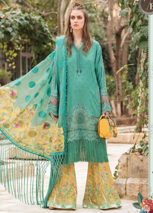 Maria B Embroidered Lawn Unstitched 3 Piece Suit 07 B – Summer Collection