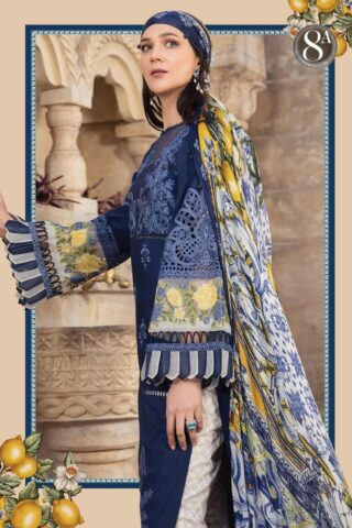 Maria B Embroidered Lawn Unstitched 3 Piece Suit 08 A – Summer Collection