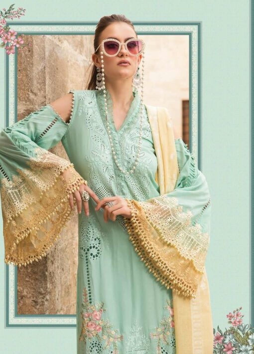 Maria B Embroidered Lawn Unstitched 3 Piece Suit 09 A – Summer Collection