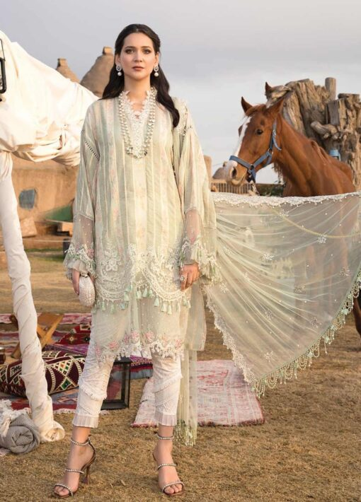 Maria B Embroidered Woven Yarn Unstitched 3 Piece Suit 10 A – Summer Collection
