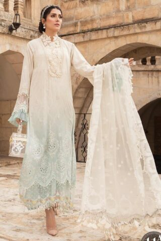 Maria B Embroidered Lawn Unstitched 3 Piece Suit 11 A – Summer Collection