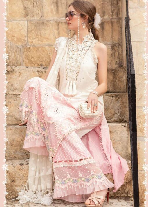 Maria B Embroidered Lawn Unstitched 3 Piece Suit 011 B – Summer Collection