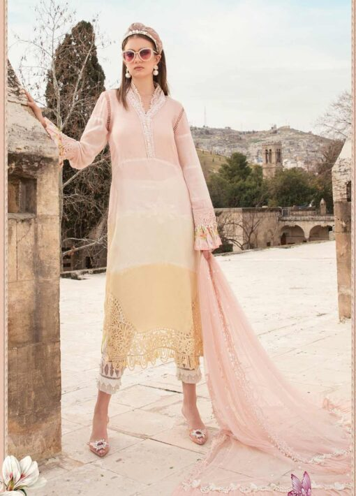 Maria B Embroidered Woven Yarn Unstitched 3 Piece Suit 12 A – Summer Collection