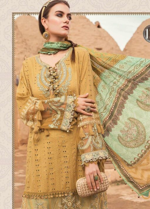 Maria B Embroidered Lawn Unstitched 3 Piece Suit 013 A – Summer Collection