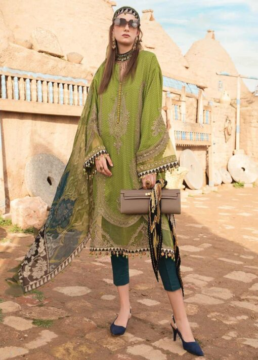Maria B Embroidered Jacquard Unstitched 3 Piece Suit 14 B – Summer Collection