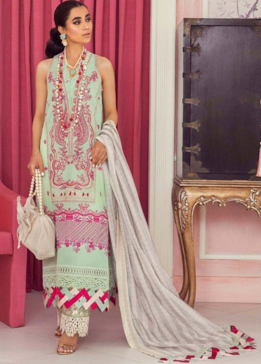 Muzlin by Sana Safinaz Embroidered Lawn Unstitched 3 Piece Suit 02B – Summer Collection