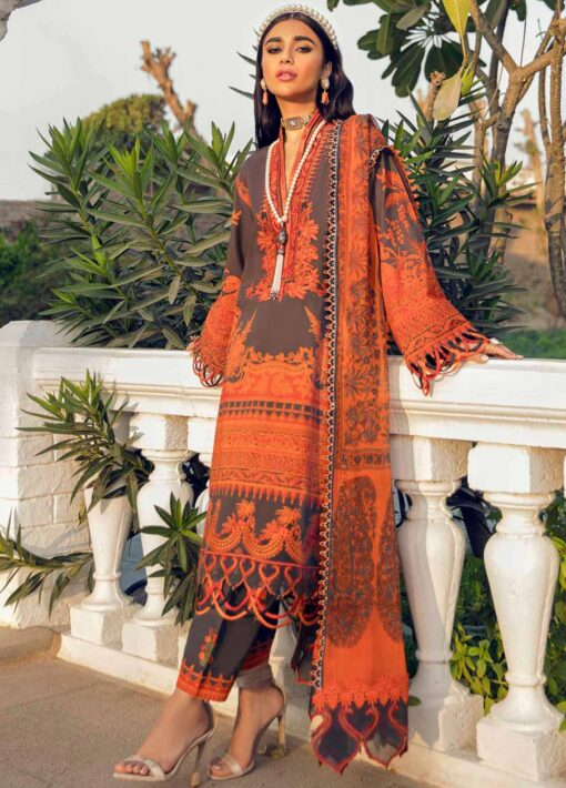Muzlin by Sana Safinaz Embroidered Lawn Unstitched 3 Piece Suit 04A – Summer Collection