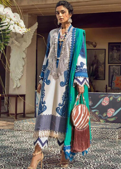 Muzlin by Sana Safinaz Embroidered Lawn Unstitched 2 Piece Suit 06B – Summer Collection