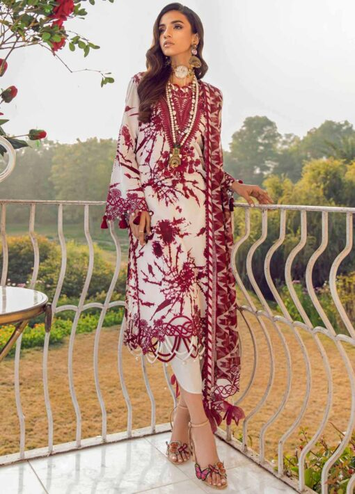 Muzlin by Sana Safinaz Embroidered Lawn Unstitched 2 Piece Suit 10B – Summer Collection