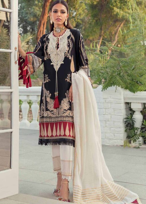 Muzlin by Sana Safinaz Embroidered Lawn Unstitched 3 Piece Suit 13A – Summer Collection
