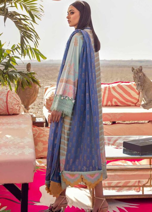 Muzlin by Sana Safinaz Embroidered Lawn Unstitched 2 Piece Suit 14B – Summer Collection