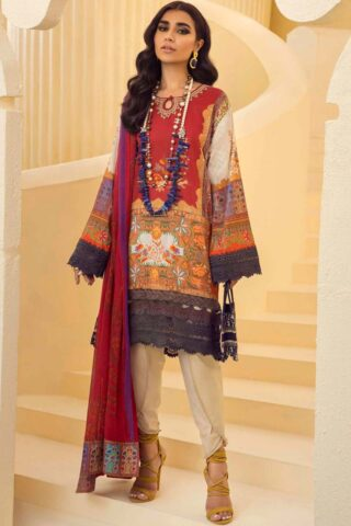 Muzlin by Sana Safinaz Embroidered Lawn Unstitched 2 Piece Suit 18A – Summer Collection