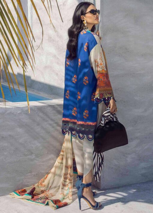 Muzlin by Sana Safinaz Embroidered Lawn Unstitched 2 Piece Suit 18B – Summer Collection