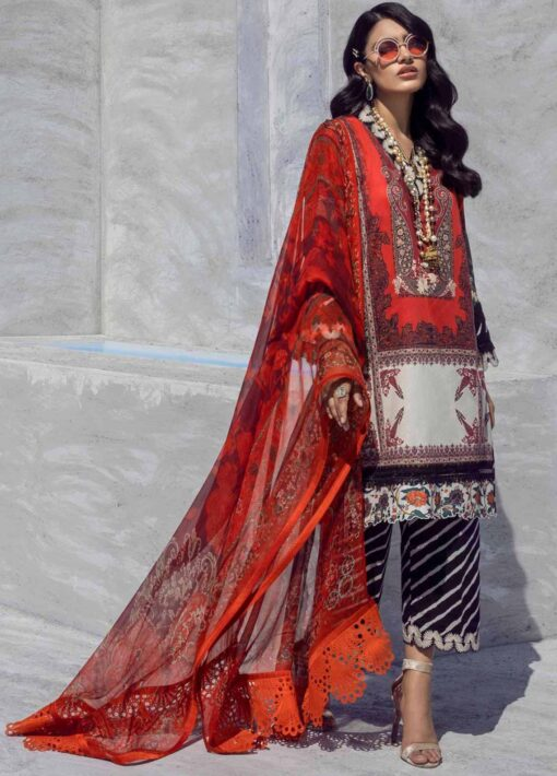 Muzlin by Sana Safinaz Embroidered Lawn Unstitched 3 Piece Suit 20A – Summer Collection