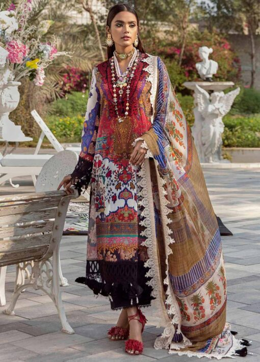 Muzlin by Sana Safinaz Embroidered Lawn Unstitched 2 Piece Suit 21A – Summer Collection