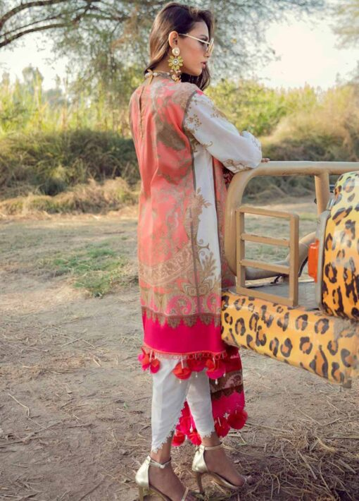 Muzlin by Sana Safinaz Embroidered Lawn Unstitched 2 Piece Suit 22B – Summer Collection