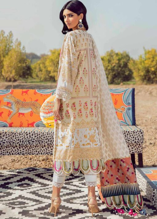 Muzlin by Sana Safinaz Embroidered Lawn Unstitched 3 Piece Suit 23A – Summer Collection