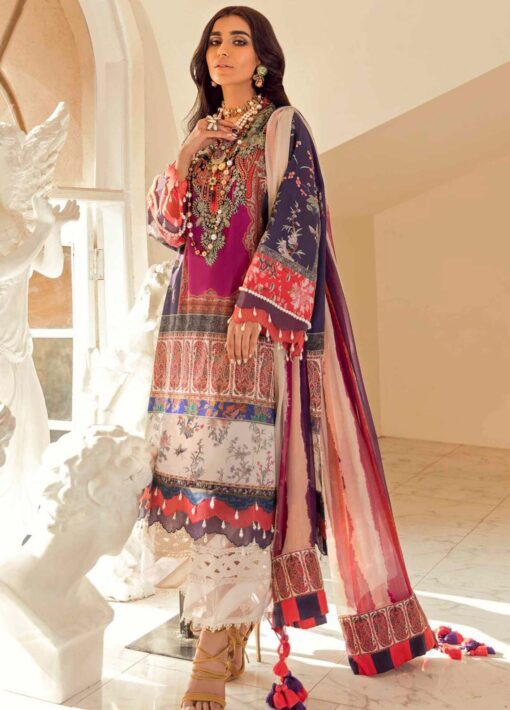 Muzlin by Sana Safinaz Embroidered Lawn Unstitched 3 Piece Suit 24A – Summer Collection