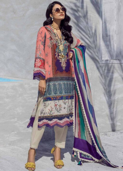 Muzlin by Sana Safinaz Embroidered Lawn Unstitched 3 Piece Suit 24B – Summer Collection