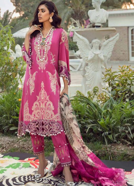 Muzlin by Sana Safinaz Embroidered Lawn Unstitched 3 Piece Suit 25B – Summer Collection